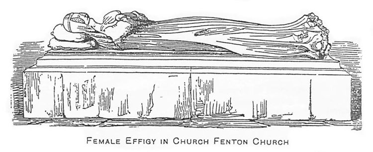 Female Effigy in Church Fenton Church