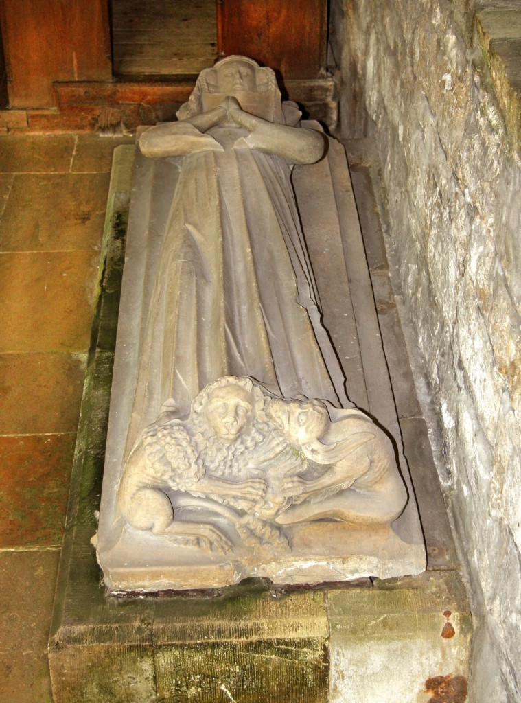 CHANCEL: one effigy of girl