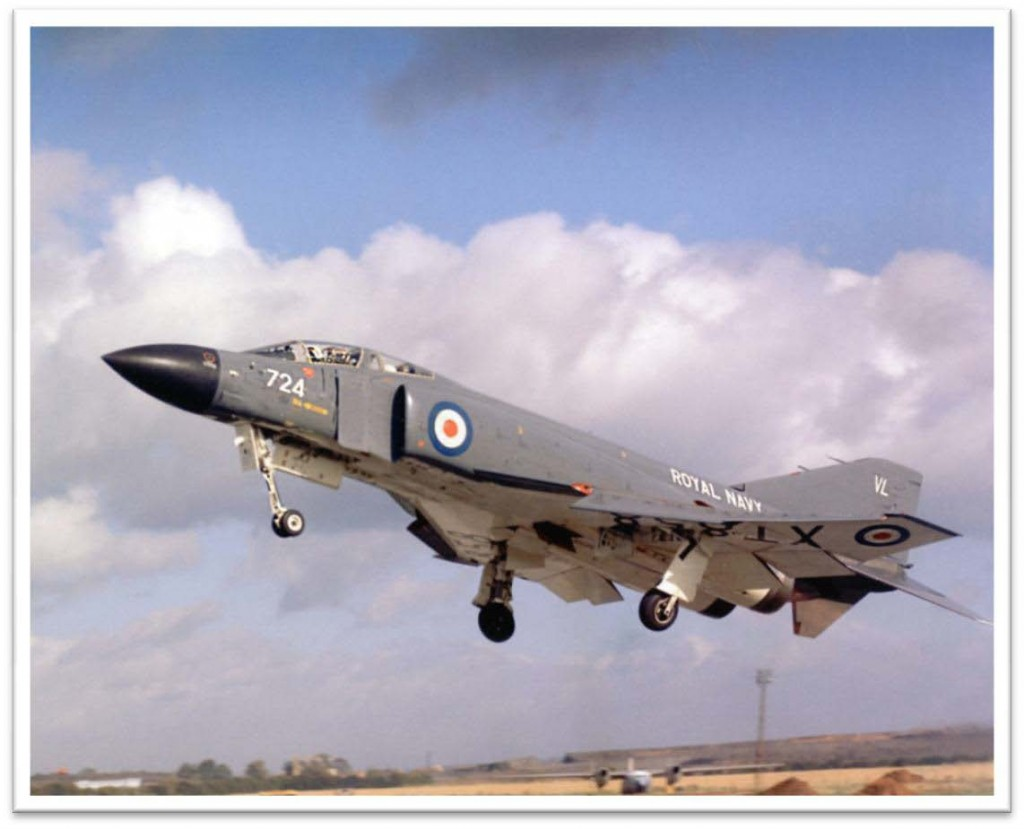 Phantom XT596 on approach to land.