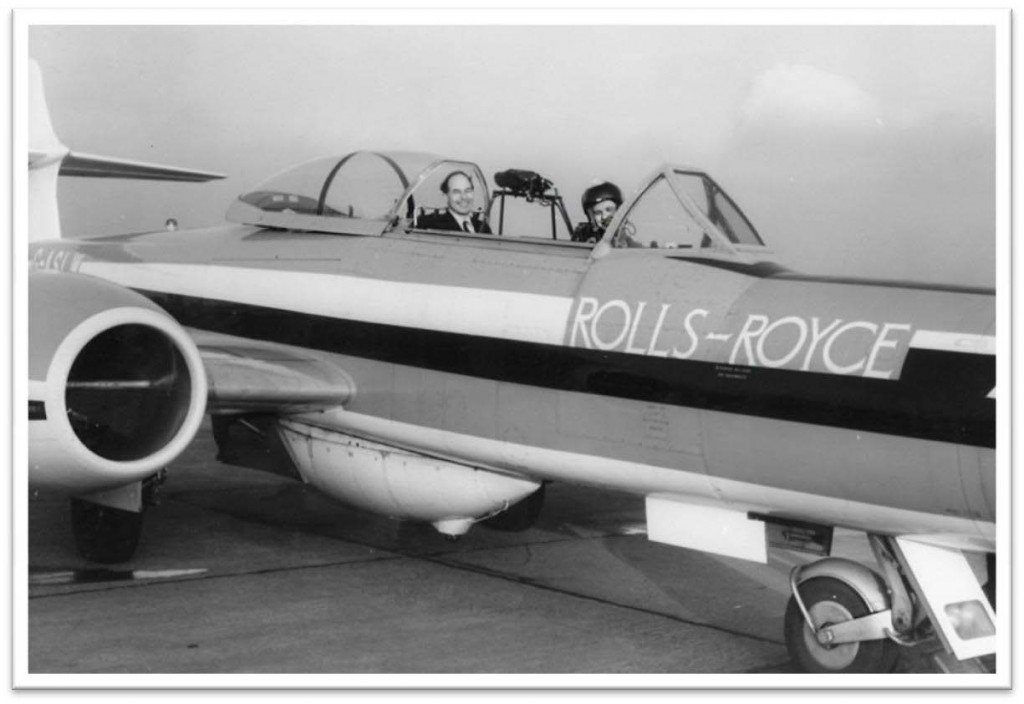 The company 'hack' — what a 'hack'! It served two purposes: for the test pilots to make flying visits to aircraft manufacturers and the RAF. It also enabled them to maintain proficiency in instrument approach procedures – 1963