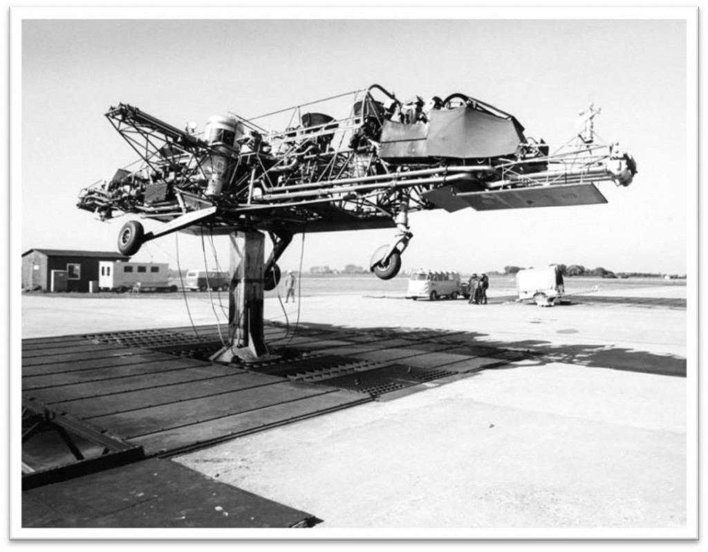 German VFW Hover Rig 1262. Getting the feet off the controls safely tethered before being set free to FLY! - October 1969