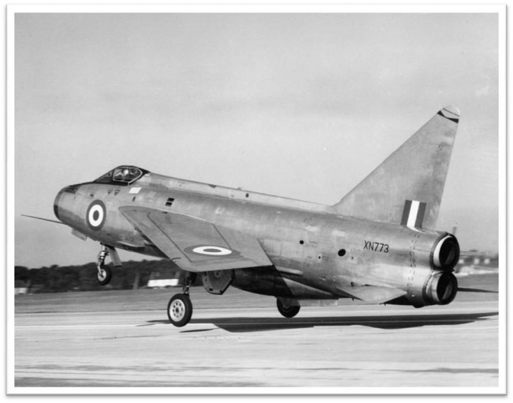 After the loss of XN723 this Mk.2 continued the development work until September 1965 when I delivered it to RAF Leconfield. We still had ongoing work with the Avon.301 in Lightning Mk.3 XN734 - 1964
