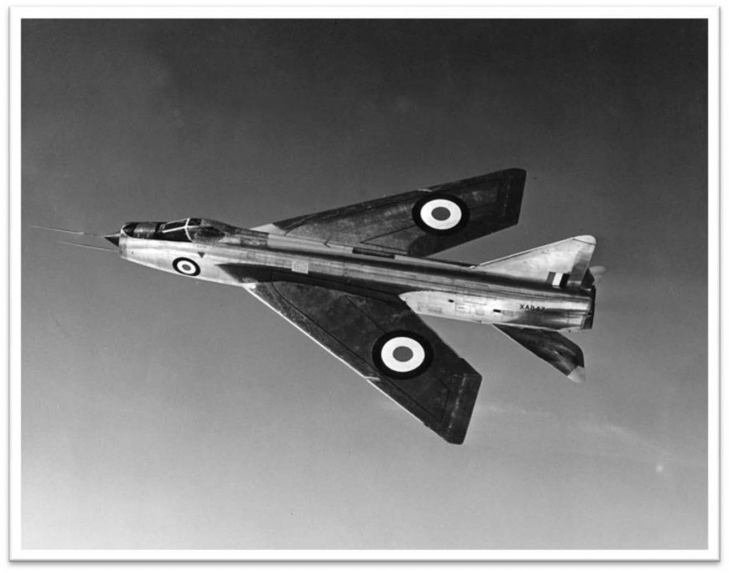 Early development batch Lightning at BAC Warton. Similar to XA856 at R-R Hucknall 1958-67 — Avon 200 & 300 development