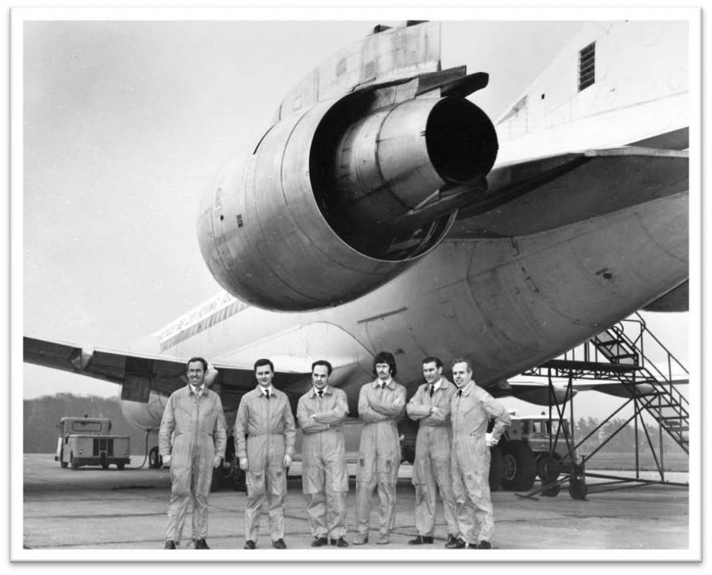 The VC10 GAXLR was taken to R-R Bristol to continue RB211 development. The Bristol flight test crew took over the duties of the Hucknall test engineers and I continued as RB211 Project TP – 1972