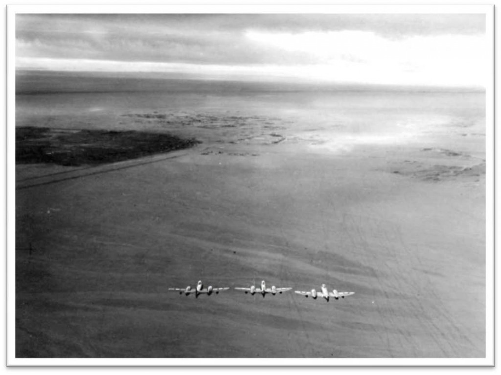 13 PR Squadron RAF Kabrit Canal Zone. Formation flying for Christmas card - 1954