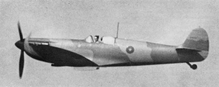 A rare photograph of the 15 in. diameter Type B fuselage roundel painted on a Spitfire Mk. 1. Unfortunately the serial number. Pained on the fin, is too small to be discernible.
