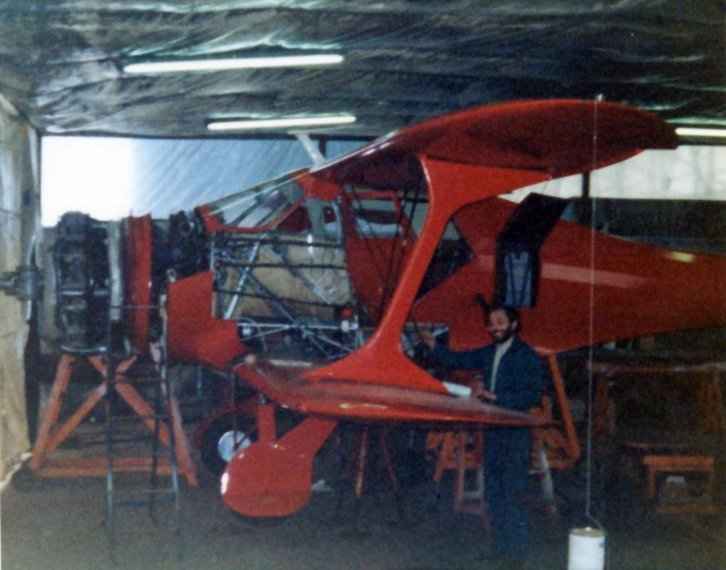 Bob Zann, Master Painter, working on G-BDGK