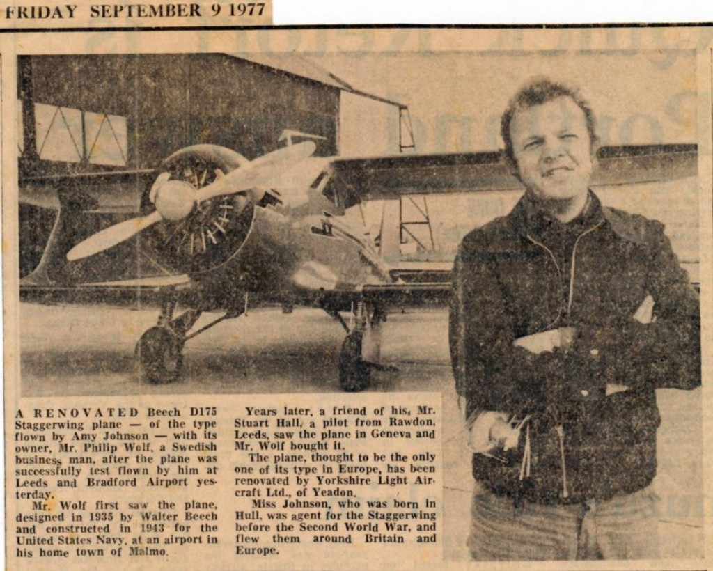Newspaper Article from the Yorkshire Post 1977
