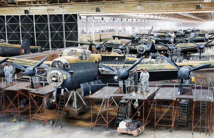 Avro Lancaster painting