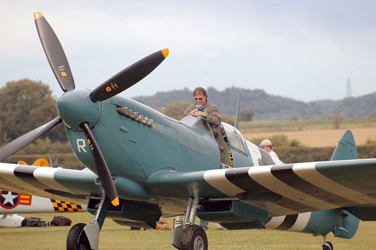 Peter Teichman on Spitfire