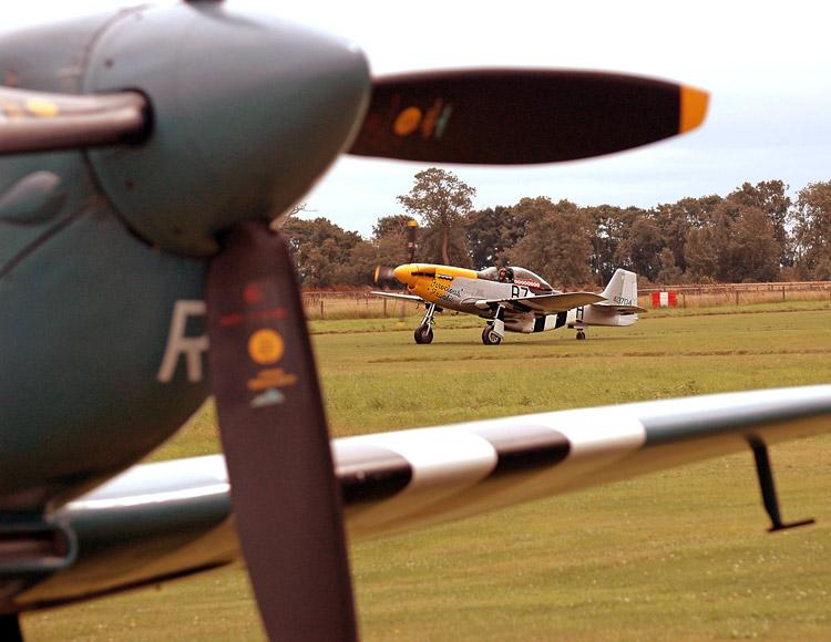 Spitfire framing Mustang