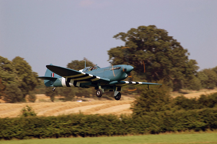 World War II Spitfire at Shuttleworth