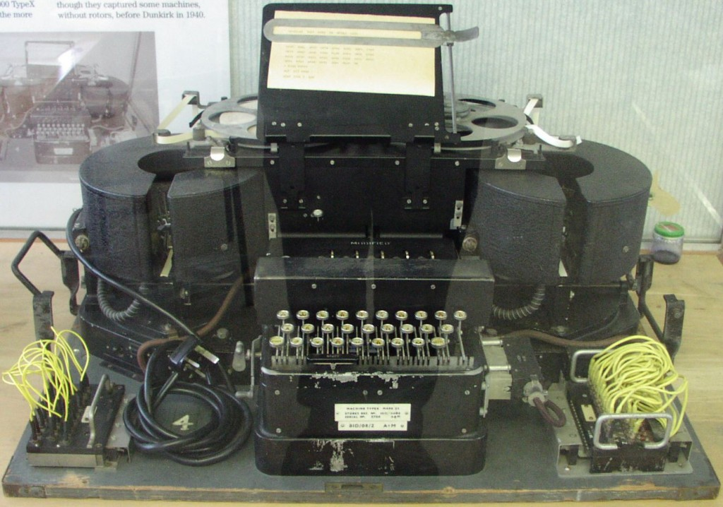 Typex was based on the commercial Enigma machine, but incorporated a number of additional features to improve the security.